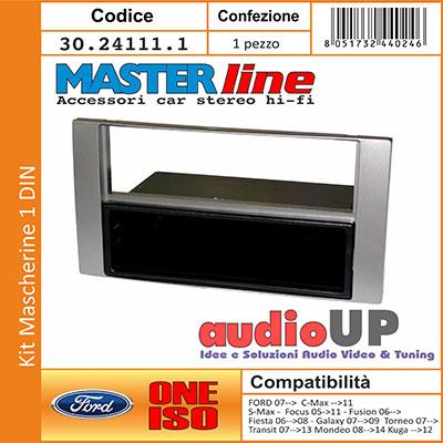 Mascherina autoradio 2 DIN con cornice in tinta Vedi sezione descrizione per compatibilit/à veicoli.